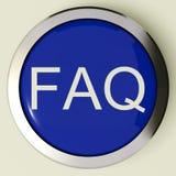 спрошенные вопросы о иконы Ч.З.В. кнопки часто иллюстрация вектора