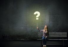 спрошенный вопрос о Ч Стоковое Изображение RF