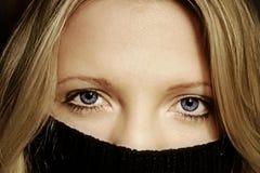 спрятанная женщина Стоковое фото RF