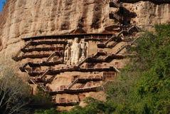 Спрятанная пещера Будды стоковое фото rf