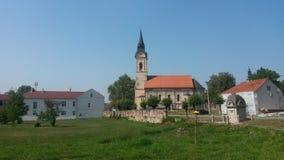 Спрятанная церковь в Pakrac Стоковые Фотографии RF