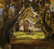 спрятанная церковь Стоковые Изображения