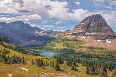 спрятанное озеро Национальный парк ледника Монтана США стоковое фото rf