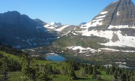 Спрятанное озеро обозревает Стоковое фото RF