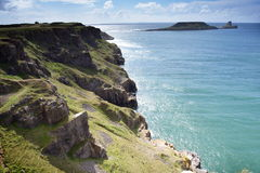 спрятанное twinklng моря острова Стоковые Фотографии RF