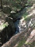 Спрятанный водопад, Белфаст NY стоковое изображение rf