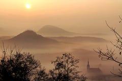 Спрятанный в тумане Стоковые Изображения