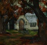 спрятанный день церков Стоковое фото RF