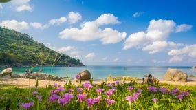 Спрятанный пляж рая в Пхукете Стоковая Фотография RF