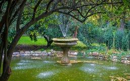 Спрятанный фонтан в парке Стоковое фото RF