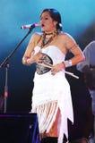 Спуски Lila певицы стоковые изображения rf