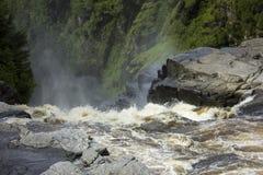 Спуск в каньон Sainte-Энн Стоковое Изображение RF