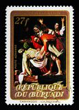 Спуск, крася Caravaggio, serie пасхи, около 1973 Стоковая Фотография RF