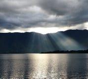 Спуск облака светлый Стоковая Фотография