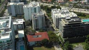 Спуск Brickell Майами расквартировывая воздушный акции видеоматериалы