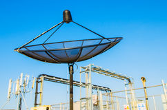 Спутниковая антенна диска Стоковое Изображение RF