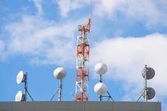 Спутниковая антенна-тарелка для приемника и других радиосвязей Стоковое Изображение RF