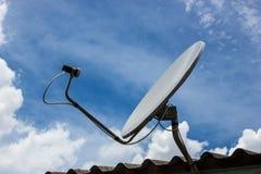 Спутниковая антенна-тарелка в Азии Стоковое фото RF