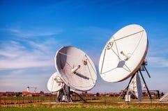 Спутниковая антенна-тарелка - радиотелескоп Стоковое Изображение