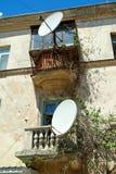 Спутниковая антенна-тарелка ТВ Стоковые Фотографии RF