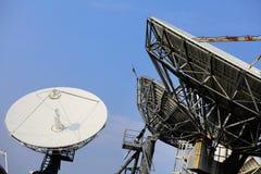 Спутниковая антенна-тарелка Стоковое Изображение