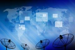 Спутниковая антенна-тарелка Стоковое Фото