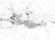 Спутниковая карта Бурсы Турция Карта улиц и здания городского центра ashurbanipal бесплатная иллюстрация