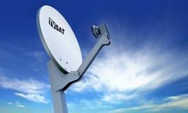 спутниковое телевидение тарелки иллюстрация вектора