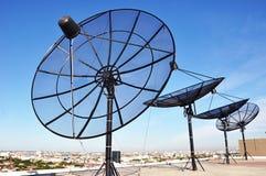 Спутниковые антенна-тарелки Стоковое Фото