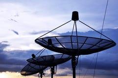 Спутниковые антенна-тарелки Стоковые Изображения RF