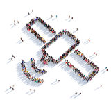 Спутниковые люди 3d Стоковое Изображение RF