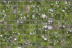 спутниковый взгляд Стоковая Фотография