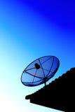 спутниковый заход солнца tv неба Стоковые Фото