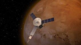 Спутник вращаясь сверх повреждает атмосферу иллюстрация штока