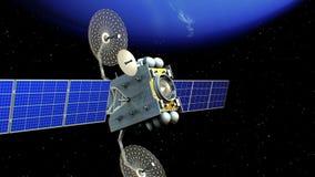 Спутник в орбите Нептуна иллюстрация штока