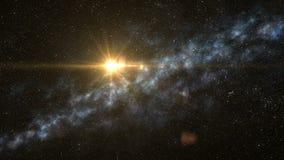 Спутник летает в глубокий космос бесплатная иллюстрация