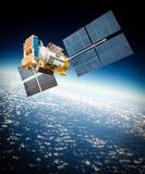 Спутник космоса над землей планеты стоковые изображения