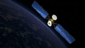 Спутник над землей, взглядом 3 бесплатная иллюстрация