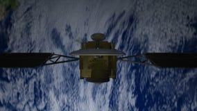 Спутник над землей, взглядом 4 иллюстрация вектора