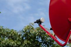 Спутник прикреплен к Стоковые Фото