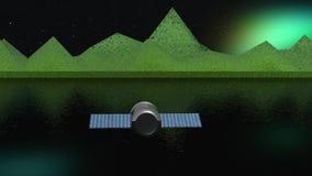 Спутник против планеты бесплатная иллюстрация