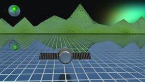 Спутник против планеты сток-видео