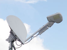 спутник тарелки компьютера Стоковое Изображение RF