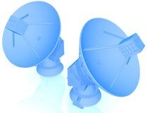 спутник тарелки 3d Стоковые Фото