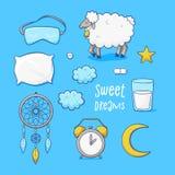 Спящ установленные, сладостные мечты Стоковые Изображения