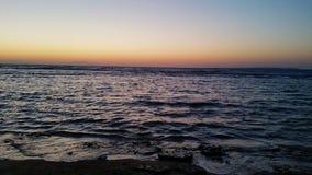 Сплавливание восхода солнца моря стоковые фотографии rf
