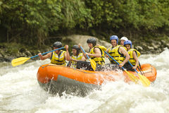 Сплавлять реки Whitewater Стоковые Фотографии RF