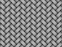 Сплетенная вектором картина волокна безшовная Бесплатная Иллюстрация