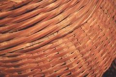 Сплетенная деревянная бамбуковая предпосылка текстуры стены Стоковое Фото
