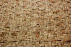 Сплетенная деревянная бамбуковая стена Стоковое Изображение